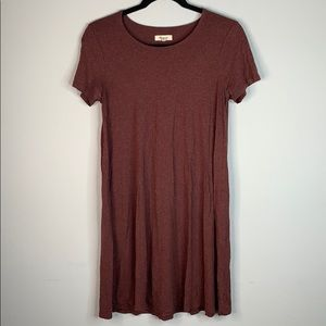 Madewell burgundy T-shirt tee dress S